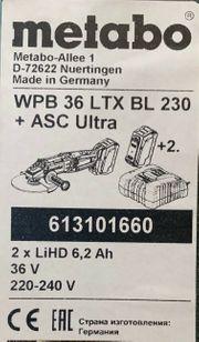 Metabo Akku-Winkelschleifer MPB 36 LTX