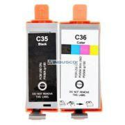 2 Tintenpatronen PGI35 CLI36 für