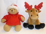 Weihnachts-Bär Weihnachts-Elch Stofftiere Plüschtiere