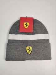 Ferrari Mütze Beanie Grau Winter