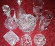Geschirr - überwiegend Kristallglas