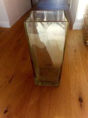 Große massive Glasvase Standvase 45cm