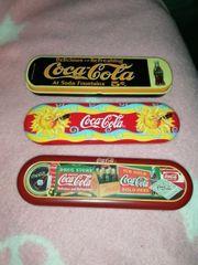 Coca-Cola Füllfederhalter Blech Etui je 8