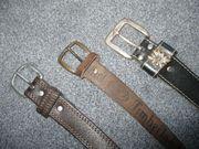 Herrenledergürtel - 3 Stück - 100 - 110cm