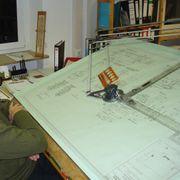 Zeichenmaschine von Kuhlmann Holzplatte 1