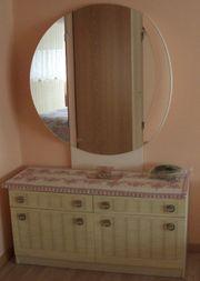 Schlafzimmer Spiegelkommode antik 70er Jahre