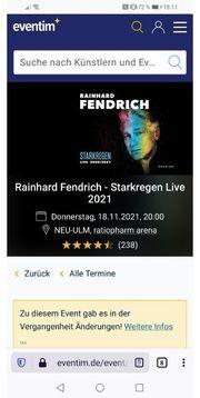 2 Konzert Tickets Reinhard Fendrich