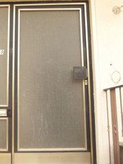 Haustür Bautür Metalltür mit Glaseinsatz