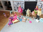 Barbie Sammlung mit Möbeln Pferden