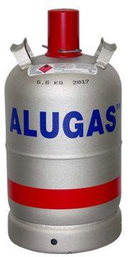 Alu Gasflasche VOLL unbenutzt für