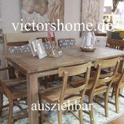 Ausziehbarer Esstisch Hartholztisch Küchentisch 160