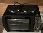 Kleinküche mit 2 Kochplatten - Kochen-backen-grillen -
