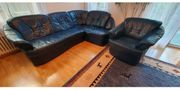 Echtleder Sofa und Sessel
