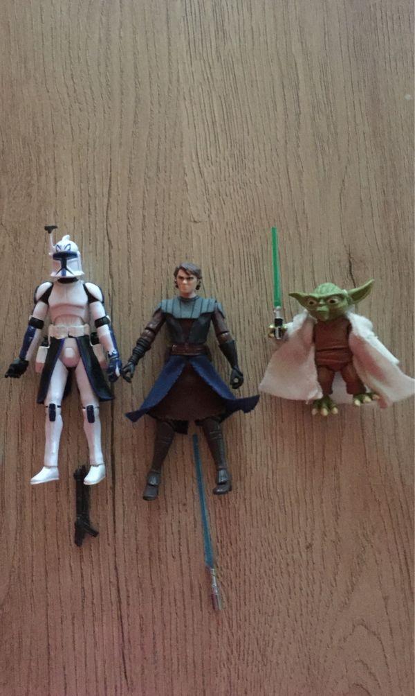 3 Hasbro Star Wars Figuren