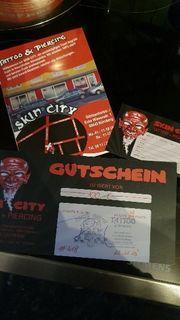 skin city Nürnberg Tattoo gutschein