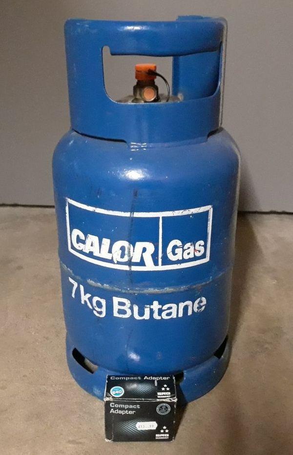 7 kg blaue englische Butangasflasche