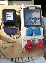 Stromzähler Baustelle