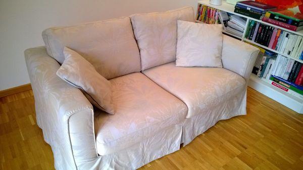Schickes Designer Sofa 2-Sitzer beige