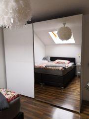 Kleiderkasten 250x223x69cm einjährig weiß Spiegel