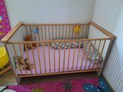 Babybett Kinderbett Buche Weiss