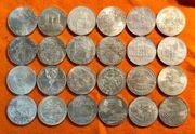 24 x 100 Schilling Silber-Gedenkmünzen