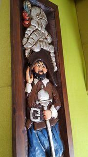 geschnitztes Holzbild Don Quischotte de