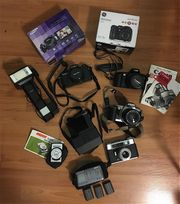 8 alte Kameras 3xCanon Minolta