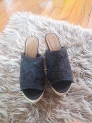 Schuhe Tom Tailor Clogs schwarz