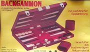 Backgammon-Koffer nie benutzt Schach Mühle-Spiel