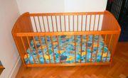 Kinderbett mit Matratze 140 x