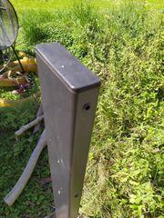 Zaun Pfosten Metall 14 Stück