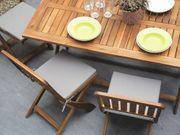Gartenstuhl braun Holz 2er Set