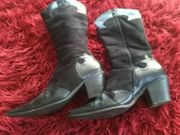 Stiefeletten schwarz Gr 38 Cowboyform