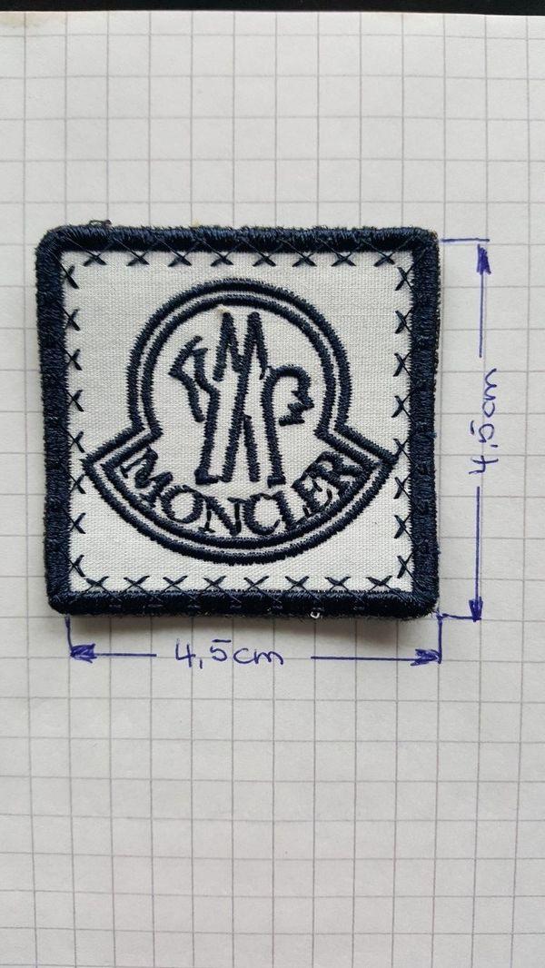 Moncler Patch Aufnäher Abzeichen Logo Mütze Jacke Button