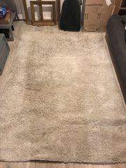 Hochflor Langflor Teppich Sand Beige