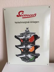 Siemens-Nostalgie-Ampel Emailleschild -Rarität-