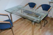 Glastisch ausziehbar 80 x 140