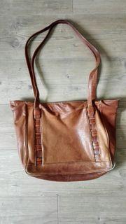 Oldschool vintage Leder Handtasche