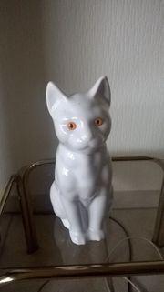 Katze weiße Keramik