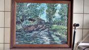 Gemälde Wassermühle Mahler Hems