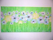 Acrylbild Gemälde abstrakte Kunst Blumen