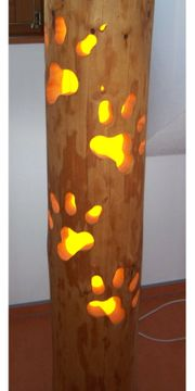 Lampe Stammlampe Holzlampe