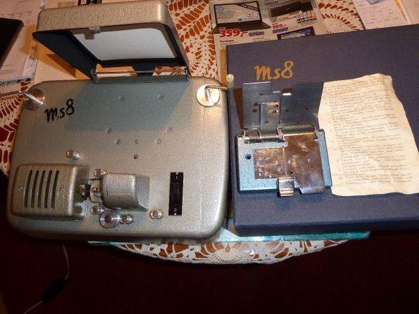 Meopta MS8 Filmschneideanlage Super 8 Filme für Sammler