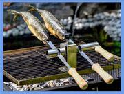 Steckerlfisch Fisch Halter Grillaufsatz 2