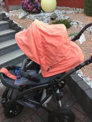 Kombi Kinderwagen Voletto grau-orange