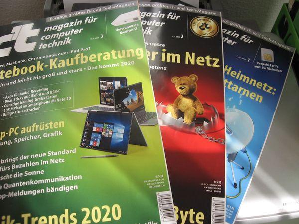 c`t - Magazin für Computer Technik 3 Exemplare 2020