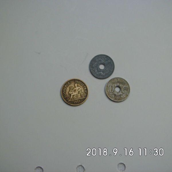 Frankreich 3 Münzen 1921-1941