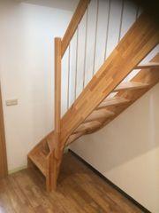 Treppe Massivholz Kernbuche versiegelt 12