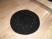Schwarz gestrickte Baskenmütze Französische Mütze