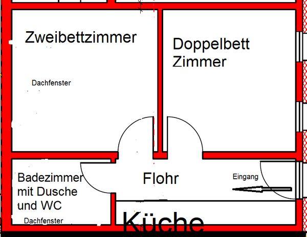 2 Zimmerwohnung Hannover-Mittelfeld für Pendler